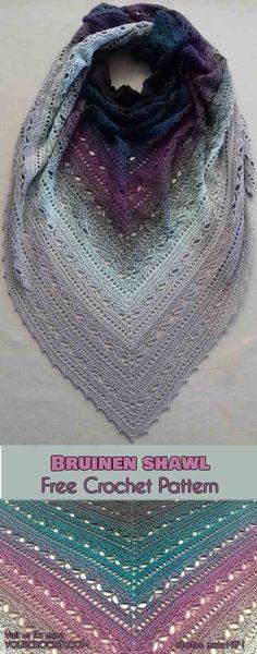 Bruinen Shawl [Free Crochet Pattern]   Your Crochet #freecrochetpatterns #crochetshawl #773Blackcurrantsqueezeme #bruinenshawl