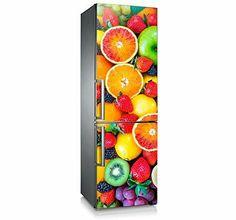 """Mod. """"Tutti Frutti"""" refrescante diseño para frigorífico. Vinilo adhesivo de fácil colocación. Decoración de frigorífico/nevera."""