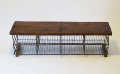 Vintage Industrial Storage Bench - Bring It On Home
