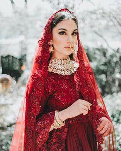 - Bridal - Floral Themed Red Lehenga Gorgeous Indian Bride in a red Punjabi bridal lehenga. Indian Bridal Outfits, Pakistani Wedding Outfits, Indian Bridal Fashion, Pakistani Bridal Dresses, Indian Bridal Wear, Pakistani Dress Design, Indian Designer Outfits, Indian Dresses, Indian Designers