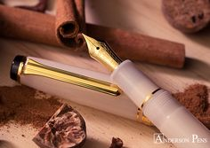 #wtf Sailor Meigetsu Autumn Moon! Spice up your desk with this ravishing ivory pen. The pearlescent barrel sparkles like La Luna on a crisp fall evening while the 14kt Gold nib will make your writing feel warm and cozy.  See all the pretty pictures at the Anderson Pens Blog. blog.andersonpens.com -- #fpn #fpgeeks #penaddict #fountainpenday #fountainpen #fountainpens #penporn #nibporn #anderonpens #sailorpen #sailorpens #sail