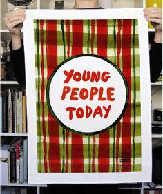Young People tea towel