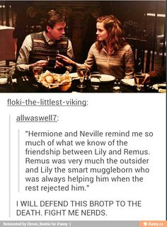 Amazing! Neville and Hermione vs. Remus and Lily