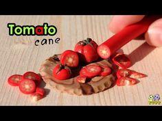 Видео МК - Колбаска - ПОМИДОР из полимерной глины ._Polymer сlay TOMATO Cane