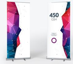 Standard, wide and double-sided pull up banners with stand and carry case - Free delivery!: