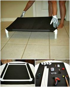 9 Diy Dog Bed Ideas Using Pvc Pipe - Diy Crafts Easy Diy Crafts easy diy dog bed Pvc Dog Bed, Dog Bed Frame, Diy Dog Run, Raised Dog Beds, Dog Cots, Diy Bett, Pvc Pipe Projects, Dog Items, Dog Houses