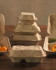 PURE Labels are the perfect match for Onyx Compostable Fiber Clamshell Packaging | Sustainable Packaging in Food Service