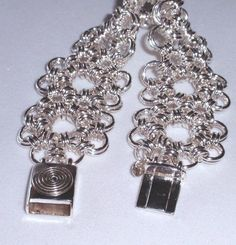 Chain Maille Sunflower Bracelet by SomethingSilverCM on Etsy