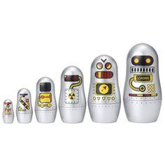 Matroesjka robots *** Speciaal overgevlogen vanuit Zweden voor jouw stoere bengel! Deze prachtig ontworpen zilveren robotjes passen in elkaar - matroesjka popjes. Overal mee te nemen want neemt weinig plaats en zorgt voor uren speelplezier!