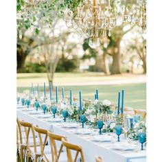 Top Table Ideas, Magazine Images, Dusty Blue Weddings, Tablescapes, Table Decorations, Charleston, Photography, Wedding Ideas, Instagram