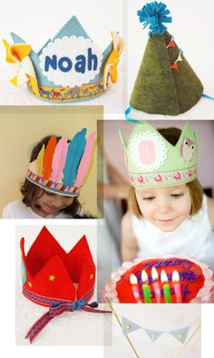 Feeling special on your birthday that is probably what count most for a child ... and wearing a handmade Mosey crown will do just that! I think these crowns are so perfect .... every little detail is well-thought of ......
