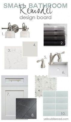 Inspiration for a small bathroom remodel.