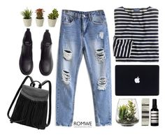 """""""#ROMWE"""" by credentovideos ❤ liked on Polyvore featuring J.Crew, Threshold, Aesop and H&M"""