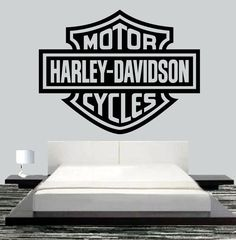 Harley Davidson Motor Wall Mural Art Vinyl Decal by JCMCUSTOM $27.95  sc 1 st  Pinterest & 318 best Harley game room images on Pinterest | Harley davidson ...