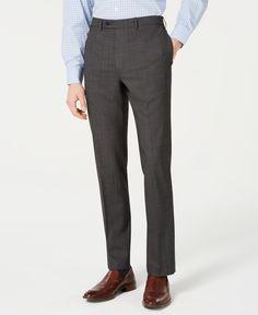 Calvin Klein Men's Slim-fit Stretch Solid Suit Pants In Black Slim Fit Suits, Plus Size Activewear, Calvin Klein Men, Dresses With Leggings, Slim Man, Trendy Plus Size, Baby Clothes Shops, Sweaters For Women, Suit Pants