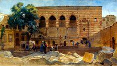 El Mahkemeh 1869  Court of the Cadi Cairo, 1869 Bayt al Qadi Maqad of Amir Mamay; House of the Kadi BY Franck Dillon (British , 1823-1909)
