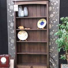 stained vic ash bookcase Built In Furniture, Industrial Furniture, Furniture Design, Wood Slat Wall, Wood Slats, Make Build, Built In Bookcase, Ash, Shelves