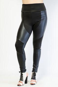Faux Leather High Waist Leggings $16.99 http://bit.ly/1wkC8Xt