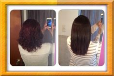 My personal Brazilian Blowout before and after pic. Seeing the comparison there is no doubt in my mind I made the right choice for me!