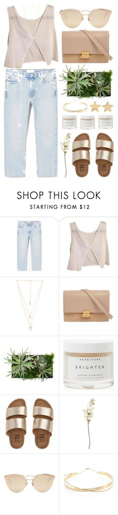 """""""Sandy"""" by cassonade ❤ liked on Polyvore featuring MANGO, Brandy Melville, Natalie B, Yves Saint Laurent, WALL, Herbivore, Billabong, OKA, Christian Dior and Lana Jewelry"""