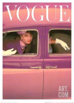 ヴォーグ表紙 - 秋のフクシア, 1957 アートプリント