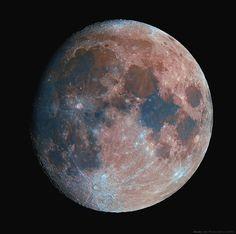 Colorful Moon  Taken by Maximilian Teodorescu on January 13, 2014 @ Dumitrana (Ilfov), Romania