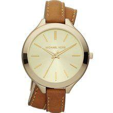 michael kors double-wrap leather watch