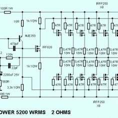 3000w stereo power amplifier circuit hubby project pinterest rh pinterest com