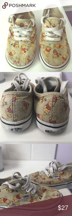 Disney Vans Winnie the Pooh 🐻🍯❤️ Gently used Winnie the Pooh sneakers Toddler size 8. Adorable and make great play shoes or everyday sneakers Vans Shoes Sneakers