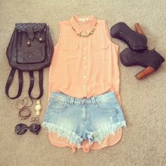 Imagen de fashion, outfit, and shorts