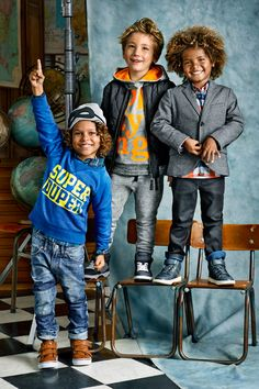It's bound to be a Super Duper back to school year in these boys shoes, jackets, and hoodies from H&M!