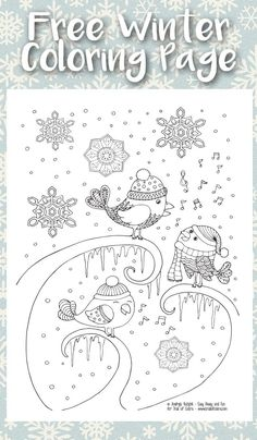 We got snow! And with snow it's time to share a winter coloring page for adults, and fun and detailed  [Continue Reading]
