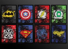 Set of 2 prints Superhero Wall Art Decor by TheCuttingEdgeShop