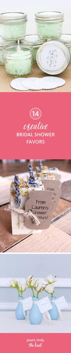 Tag edible bridal shower treats or pamper products with a punny note for a cute way to say thank you to your wedding guests!