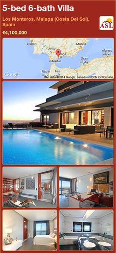 5-bed 6-bath Villa in Los Monteros, Malaga (Costa Del Sol), Spain ►€4,100,000 #PropertyForSaleInSpain