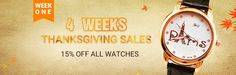 week one,15% off on all watches 10.12-10.18 coupon code: WATCH1126