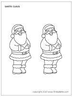 Medium-sized Santa Claus coloring page
