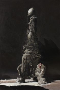 Nicola Samorì - 'An Altar' - 2012, oil on linen, 290 x 200 cm