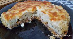 Mięso mielone pod kalafiorem Mozzarella, Pie, Desserts, Food, Torte, Cake, Meal, Fruit Pie, Deserts