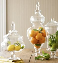 bright and fresh apothecary jars