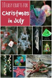 Christmas in July Crafts - Happy Hooligans Celebrating Christmas in July? Get in the spirit with these 10 easy-to-make Christmas in July crafts from Happy Hooligans! Preschool Christmas, Easy Christmas Crafts, Summer Crafts, Simple Christmas, Preschool Crafts, Christmas Holidays, Christmas Bulbs, Crafts For Kids, Celebrating Christmas