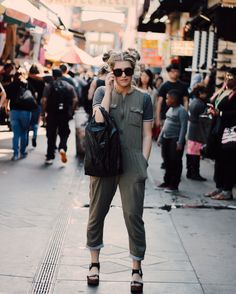 LA fashion district. Santee Alley.
