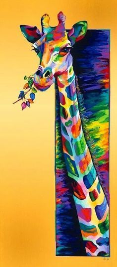 """""""The key to growth is the introduction of higher dimensions of consciousness into our awareness."""" ~ Lao Tzu Artist: Linzi Lynn Title: 'Giraffe Eating' ॐ lis"""