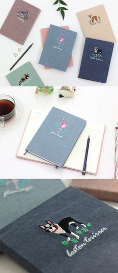This is a useful scheduler with a unique fabric hardcover. The hardcover also has a super lovely animal embroidery ^_^!
