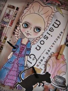 Paper Girl Art - Don't Let the Rats Take Your Cake #paperdollart #cindysowers