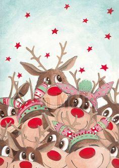 Nieuwjaarsbrief An Melis Christmas Images, Christmas Nails, Christmas Crafts, Christmas Decorations, Christmas Ornaments, Ikko, Winter Illustration, Diy Pool, Whimsical Art