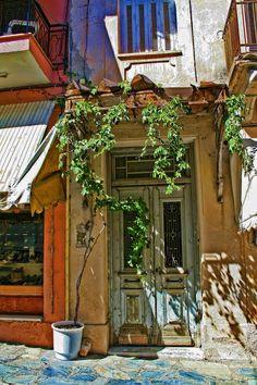 Old Door in Athens, Greece