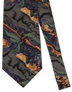 J. Garcia Green Yellow Blue Art Silk Necktie NW #JGarcia #NeckTie