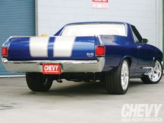1970 El Camino SS 454 (GM) #Blue.  Find parts for this classic beauty at restorationpartssource.com.