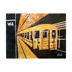 Artist Creates Mosaics Of New York Icons Using Discarded Metro Cards -... via Polyvore